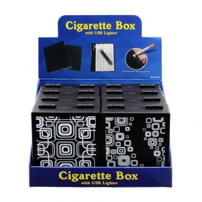 AT-USB Lighter/ Cig.Box Black